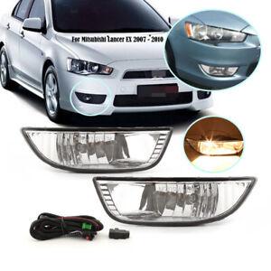 Fog Light Lamps For Mitsubishi Lancer EX 2007-2009 2010 w/ Bulb Halogen L&R PAIR