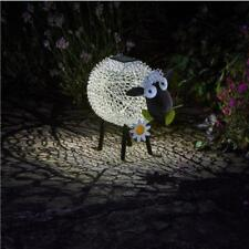 Novelty Animal Solar Metal Silhouette Dolly the Sheep Garden Ornament Decoration