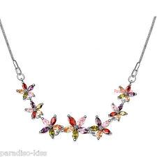Collana Donna Cristallo Swarovski elements Fiori multicolore A40
