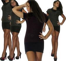 Miniabito donna maxipull mini abito pullover vestito maglione nuovo