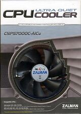 Zalman CNPS7000C-AlCu Low Profile Aluminum Copper Fan Speed Controller Heatsink