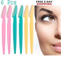 NEW 6pc Women Face & Eyebrow Hair Removal Safety Razor Trimmer Shaper Shaver