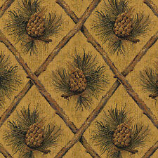 PINECONE UPHOLSTERY FABRIC MOUNTAIN LODGE CABIN RUSTIC CABELA TAPESTRY CHENILLE