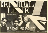 "27/3/82PGN43 ALBUM ADVERT 7X11"" CENTRAL LINE : BREAKING POINT"
