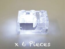 BULK 6 X LIGHTUP 2 X 3 BUILDING BRICK WHITE LED WITH BATTERY COMPATIBLE FOR LEGO