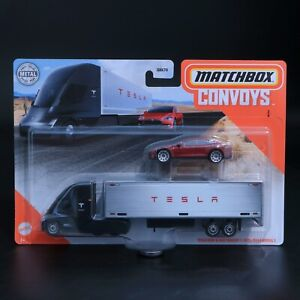 Matchbox - Convoys - Tesla Semi & Box Trailer \ 2015 Tesla Model S - Brand New