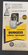 Burgess Vibra-Sprayer Ad Brochure 1950s Paint