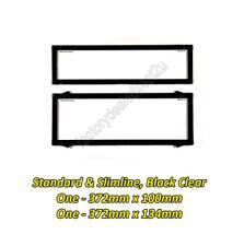 Number Plate Covers Slimline & Standard Black Clear Pair 6QSNL QLD VIC SA WA NT