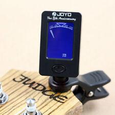 360° Rotation Clip On LCD Digital Chromatic Electronic Guitar Bass Ukulele Tuner