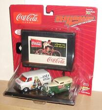 2003 JOHNNY LIGHTNING BILLBOARDS COCA COLA G20 CHEVY VAN 33 FORD PANEL DELIVERY
