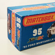 Custom Fictitious Matchbox Superfast BOX for 2014 '93 Ford Mustang LX SSP CHP