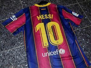 "Barcelona Nike ""MESSI"" Trikot; Handsigniert/Autogramm Gr M 2021 CHARITY"""