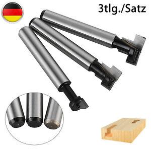 Fräser Schaft 6mm 3-tlg T-Nutfräser Set Für Oberfräse, Fräsen Werkzeug Kit