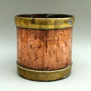 Vintage / Antique Anglo Indian Copper & Brass 2 SEER Rice Measure / Cup