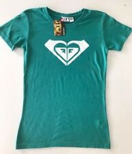 BNWT ROXY LADIES HEART LOGO BASIC T SHIRT SIZE 10 (EMERALD) SIZE 10 REDUCED
