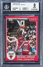 HIGH-END BGS 8 WITH 8.5 & 9 SUBS 1984 Star 84-85 MICHAEL JORDAN ROOKIE CARD #101