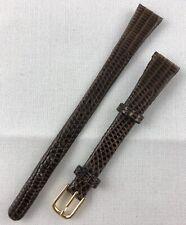 Kreisler Genuine Lizard 13mm Long Ladies Brown Non-Stitched Watch Band W71