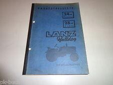 Ersatzteiliste / Teilekatalog Lanz Bulldog Diesel-Schlepper Stand 1956