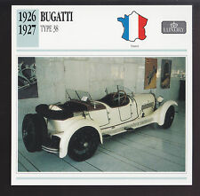 1926-1927 Bugatti Type 38 France Luxury Car Spec Sheet Photo Info ATLAS CARD