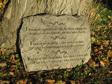 "Memorial verse stone garden ornament ""I Thought Of You Today"""