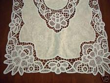NEW Handmade Reticella Lace Embroidery Doily Runner SET