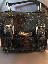 Kate Spade New York Scout Black Glitter Satchel  Small Bag Crossbody
