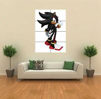 SHADOW THE HEDGEHOG SONIC NEW GIANT LARGE ART PRINT POSTER PICTURE WALL G476