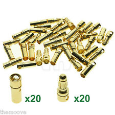 New 20 Pairs 3.5mm Gold-plated Metal Bullet Banana Plug Connector RC Battery AU