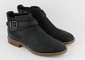 Womens Clarks Camzin Hale Ankle Boot - Black Leather, Size 9 M US