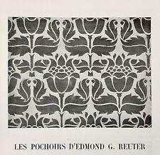 Pochoirs Edmond G. Reuter Revue L'Art Décoratif 1912 Papier Peint Documentation