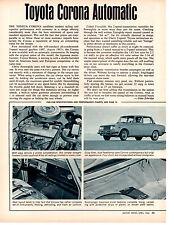 1966 TOYOTA CORONA ~ ORIGINAL SINGLE-PAGE ARTICLE / AD