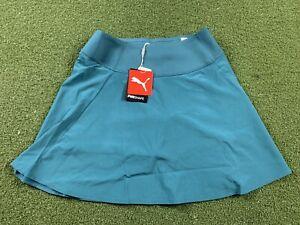 Puma Pwrshape Solid Woven Skirt Deep Teal Green Women's SZ S ( 595853 28 )
