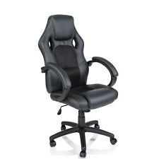 Racing Chefsessel Stuhl Bürostuhl Drehstuhl Schalensitz Sportsitz Büro schwarz
