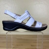Clarks Collection Lexi Qwin Cut Out Sandals Womens Size 10 W (Wide) Leather