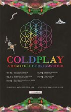 COLDPLAY - A HEAD FULL OF DREAMS CONCERT ASIAN POSTER - LOOKS GREAT FRAMED