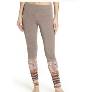 Free People Movement Alpine Leggings Knitted Striped Details Size Medium