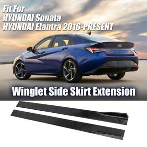 Winglet Side Skirt Extension Fit For Hyundai Sonata Elantra 2016-Present DTMotor