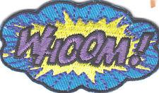 """WHOOM!""-BATMAN-JUSTICE LEAGUE PATCH-DC COMICS-Iron On  Patch/TV,Movie,Cartoons,"