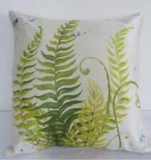 Designer Exotic Fern Painting Faux Silk Cushion Cover 45cm