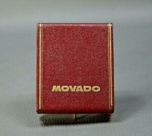 Antique Swiss MOVADO Pocket Watch Display Case Red Presentation Box