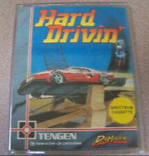 "Vintage Spectrum 48k 1980s Cassette Video Game 4"" X 5.5"" Hard Drivin Tengen Car"