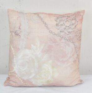 Kissen incl. Inlett 45 x 45 cm roze Rose Rosa Vintage style dutch decor LP 26,50