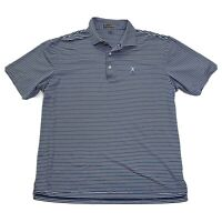 Peter Millar Summer Comfort XL Polo Golf Shirt Blue Striped Men's