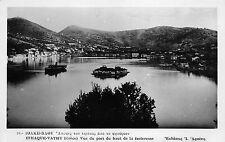 BF2458 ithaque vathy vue du port ship bateaux greece  real photo
