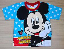 Disney MICKEY MOUSE Boy Girl Kids Cotton T Shirt Size L Age 6-8 Y #39 New
