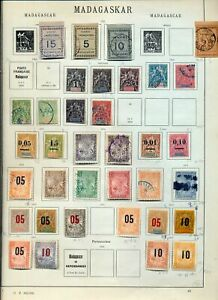 French Madagascar 1889/1930s Mint &Used Collection(90+Items)NS 64