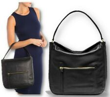 NWT Cole Haan Jade Soft Leather Hobo Bag Black RFID Protection $298
