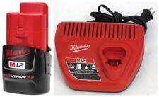 New Milwaukee 48-59-2420 Charger & 48-11-2420 Battery M12 12V 2.0Ah Li-Ion