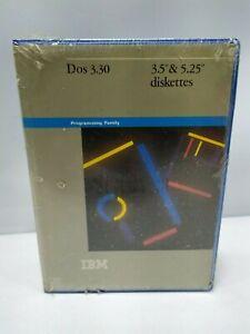 Vintage IBM DOS Version 3.3 FACTORY SEALED Complete w 5.25 & 3 Discs 1987