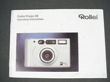 Rollei Prego 30 Camera Instruction Book / Manual / User Guide